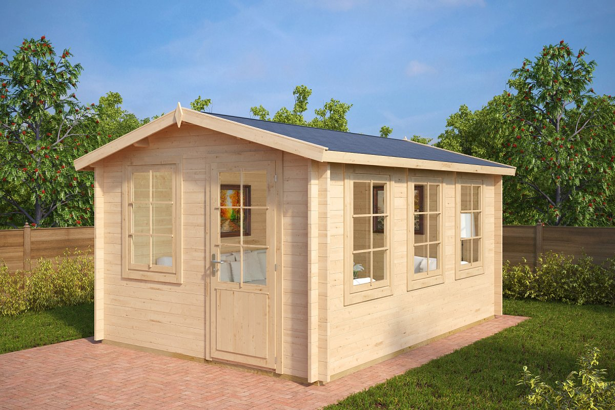 holz-gartenhaus modern eva c 12m² / 40mm / 3x4 - casetas de jardin 24