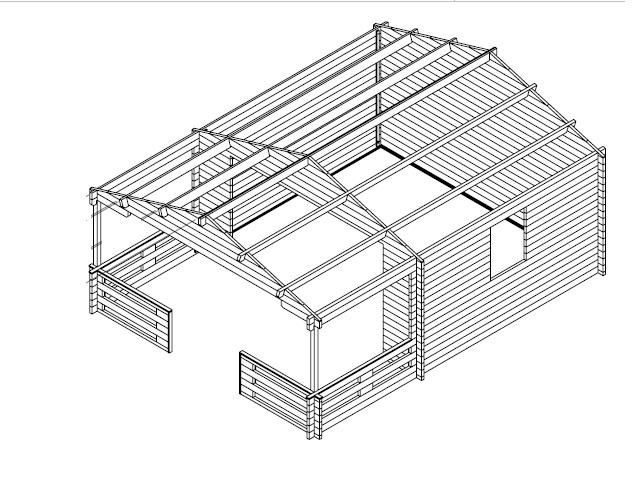 Casa de verano 15m2 / 6 x 4 m / 44mm