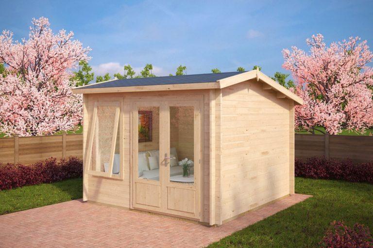Caseta de jardín Nora D 9m2 / 3x3m / 40mm
