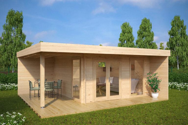 Caseta de jardín Hansa Lounge XL 15m² / 6 x 5 m / 44mm