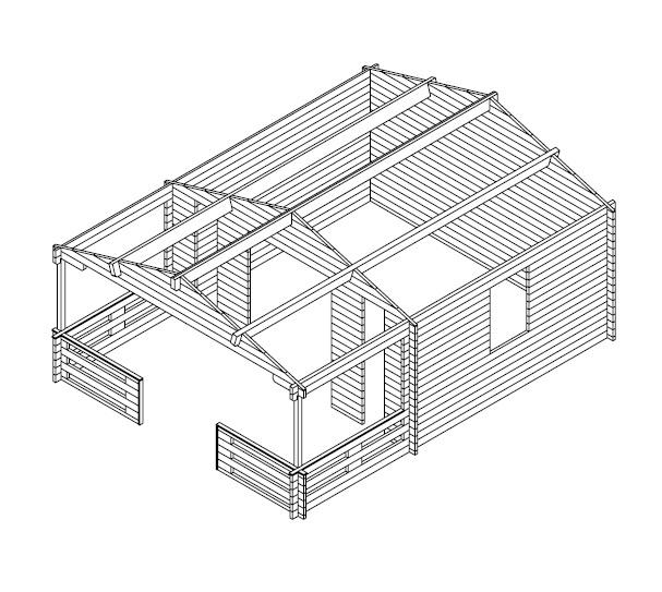 Caseta de jardín Henry 15m3 / 6 x 4 m / 44mm