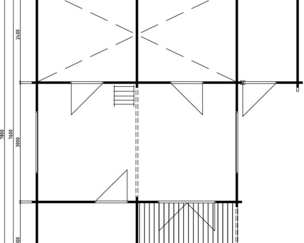 Casa de madera  Helsinki 35m² / 7 x 8 m / 58mm