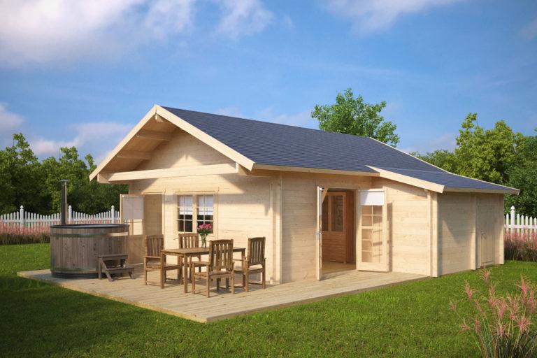 Casa de madera Dallas 43m2 / 7 x 7 m / 70mm