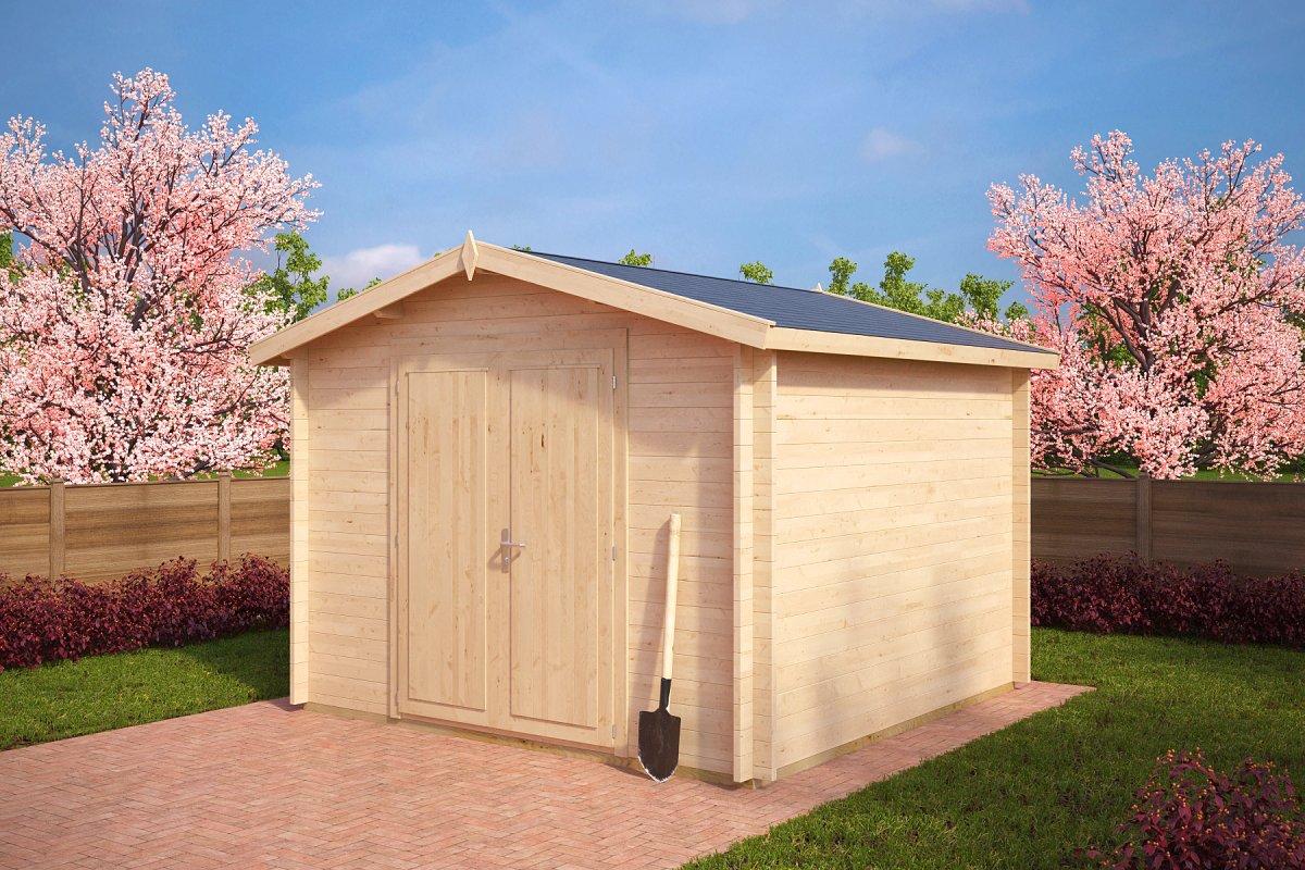 Cobertizo de almacenamiento de jardín 9m2 / 3x3m / 40mm
