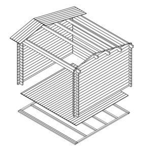 Gartenhaus Nora E 3D