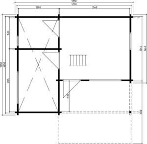Gartenhaus Oklahoma Grundplan