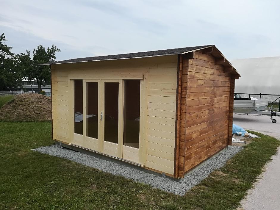 caseta de jard n eva e 12m2 4x3m 44mm casetas de On caseta de jardín barata 12m2