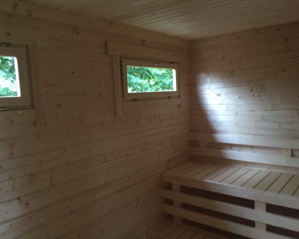 Sauna de jardín Paula 12m2 / 7x3m / 40mm