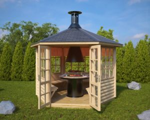 Caseta para Barbacoa Seattle 6 m2 / 3x3m / 55mm