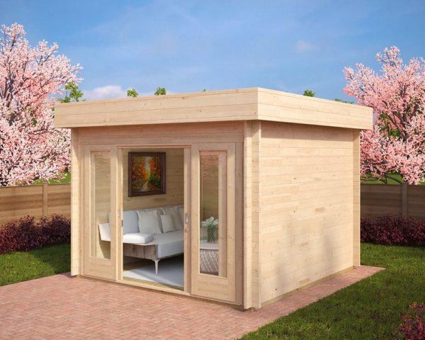 Caseta de jardín Lucas E 9m2 / 3x3m / 44mm