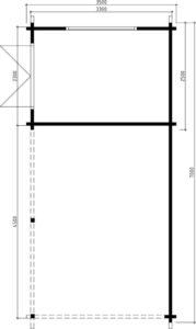 Cochera de madera 3 x 7 m / 70 mm