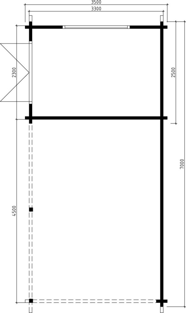 carport mit ger teraum arthur 21m 70mm 3x7 casetas. Black Bedroom Furniture Sets. Home Design Ideas