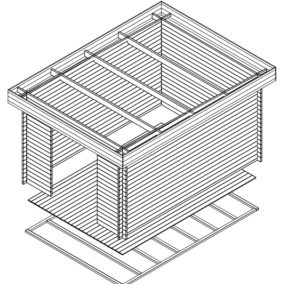 Gartenhaus Jacob A 3D