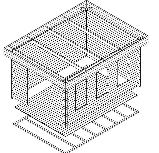 Caseta de jardín Jacob B 12m2 / 3x4m / 40mm