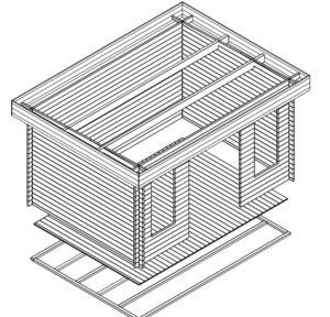 Gartenhaus Jacob D 3D