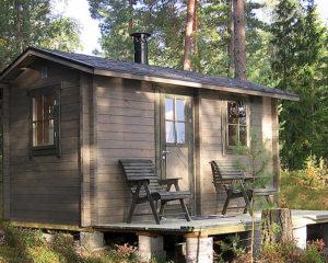 Sauna finlandesa de exterior Matti 8m2 / 4x2m / 58mm