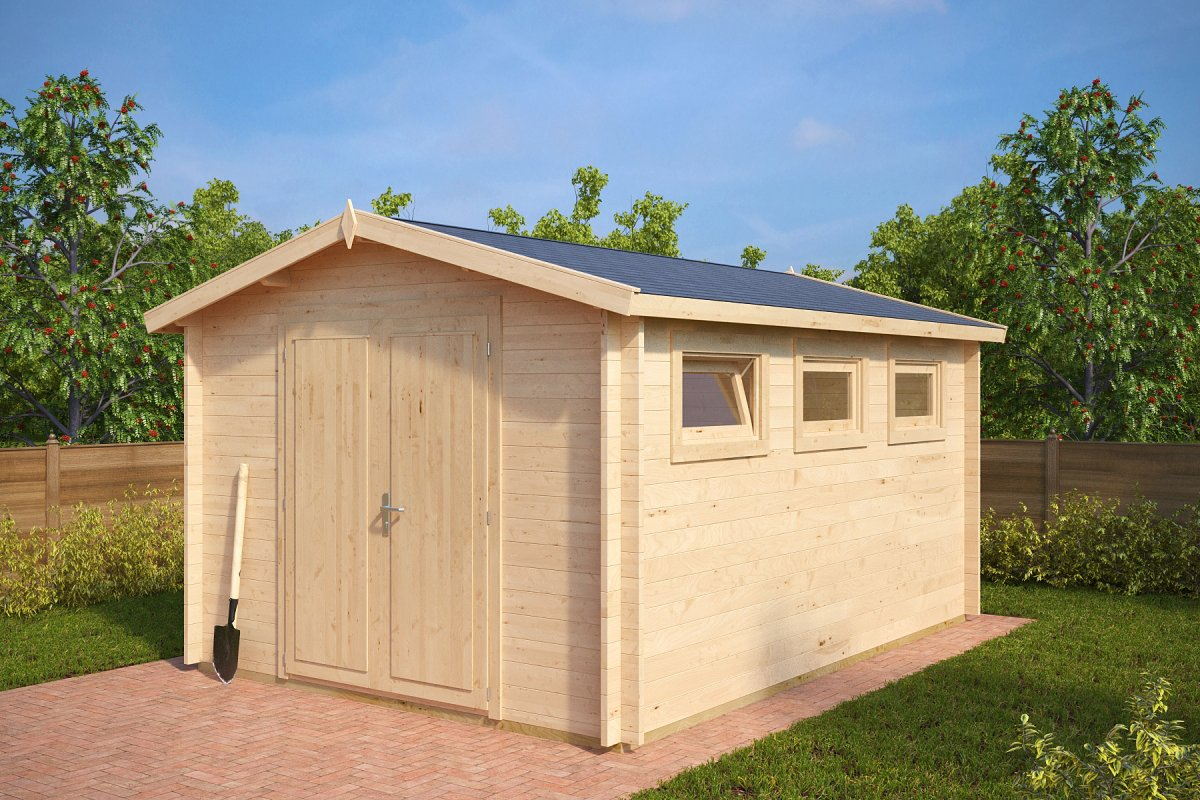 caseta de jard n eva f 12m2 3x4m 40mm casetas de On caseta de jardín barata 12m2