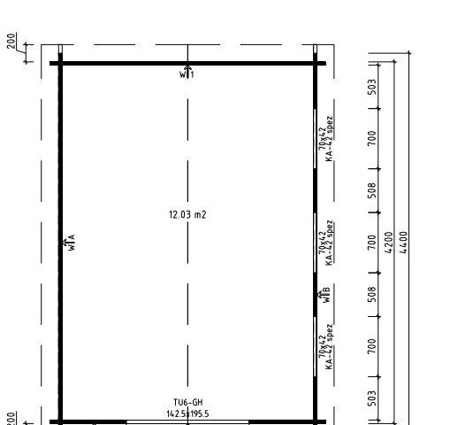 Caseta de jardín Eva F 12m2 / 3x4m / 40mm