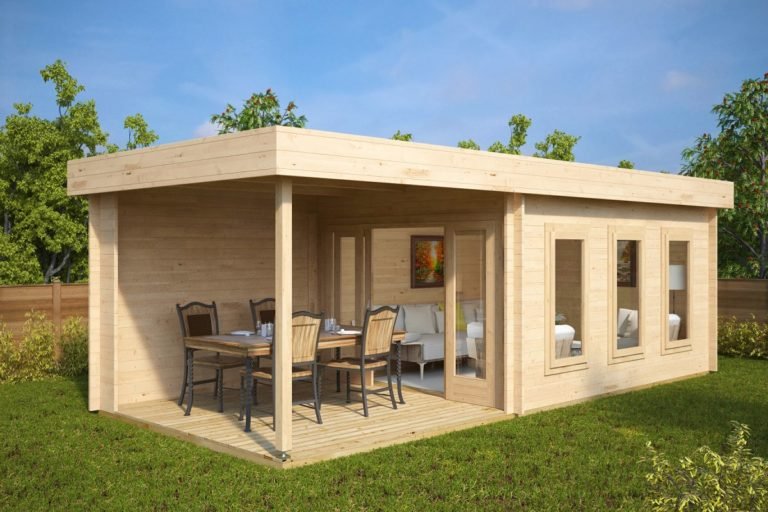 Caseta de jardín con terraza Jacob E