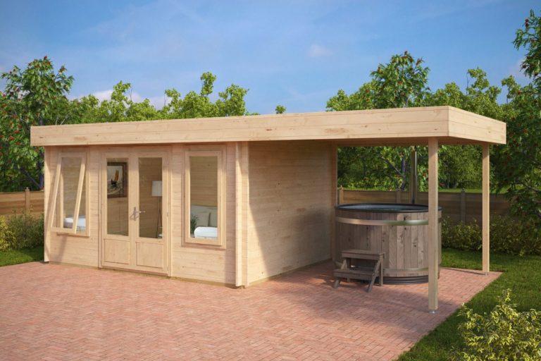 Caseta de jardín con porche