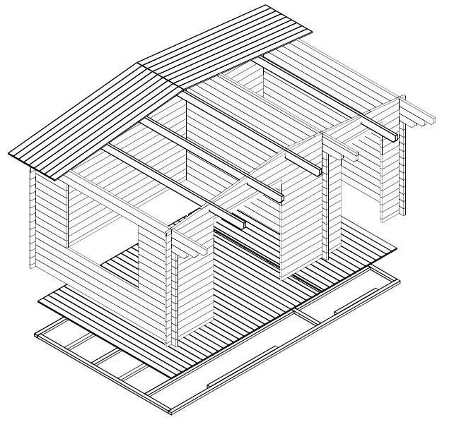 Caseta de jardín y trastero combinados Super Otto
