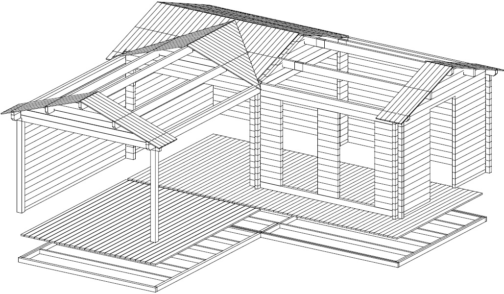 Caseta de jardín Hansa Corner Deluxe B