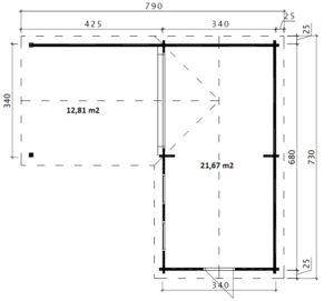 Corner Deluxe B 3D Bodenplan