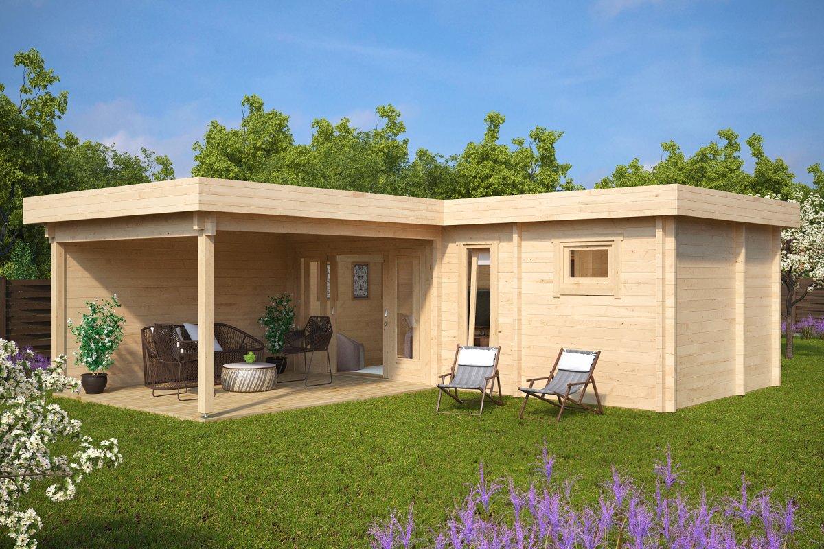 gartenhaus mit sauna hansa a 22m2 70mm 3x7 casetas de jardin 24. Black Bedroom Furniture Sets. Home Design Ideas
