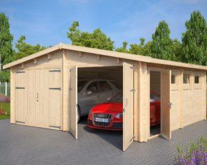 Garaje doble con puertas dobles