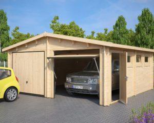 Garaje doble con puertas basculantes