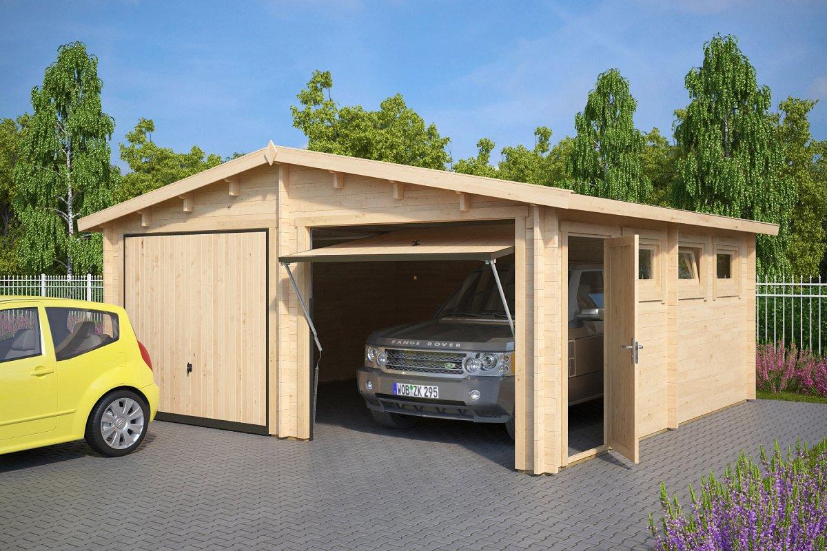 doppelgarage e mit schwingtor 44mm 5 5 x 6 casetas de jardin 24. Black Bedroom Furniture Sets. Home Design Ideas