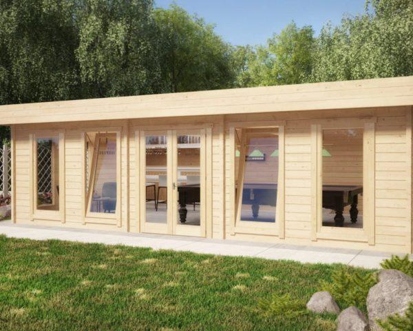 Casa de jardín B 38 m2 / 70mm / 8x5m