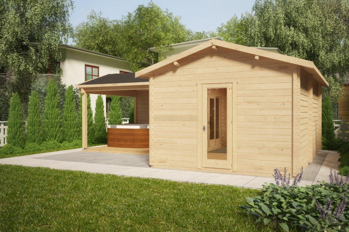 Caseta de jardín Hansa Corner B 18m2 / 6x3m / 44mm