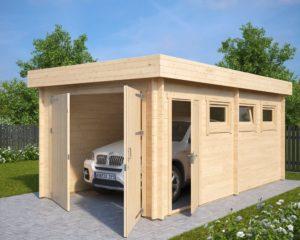 Garaje C con puerta doble / 3x6m / 44mm