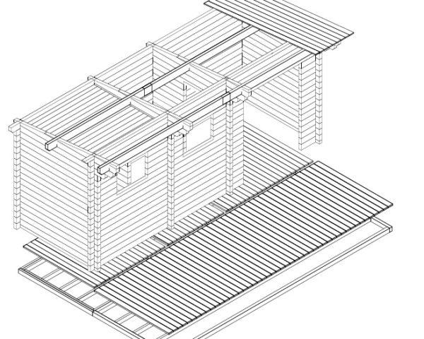Sauna finlandesa tradicional de 70 mm de calidad superior.