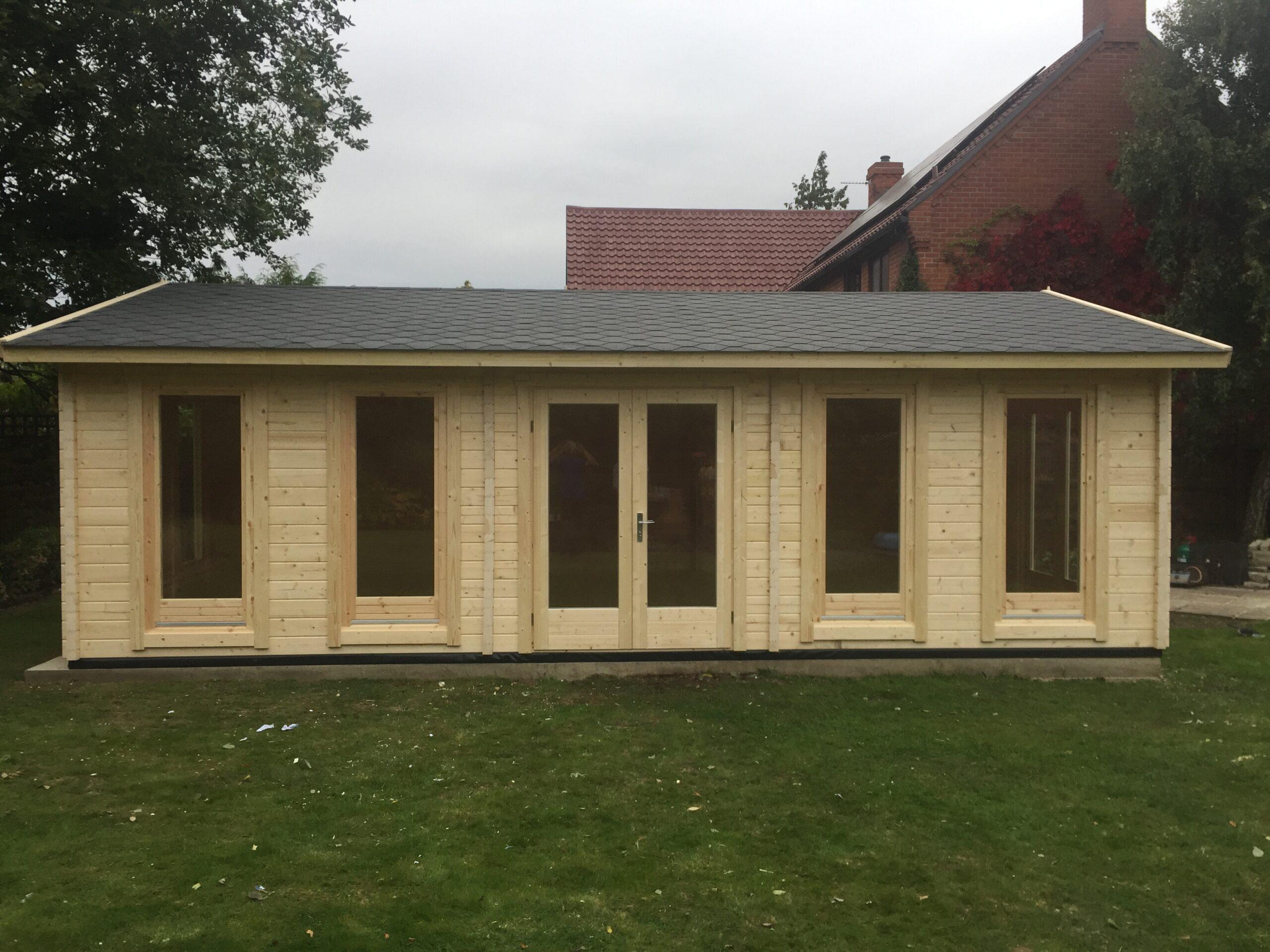Casa de madera D 38 m2 70mm 8x5m