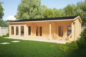 Casa de madera con dos dormitorios 50m2 / 6 x 11 m / 70mm