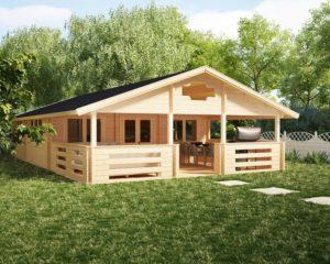 Casa de madera Holiday F 50m2 / 7 x 12 m / 70mm