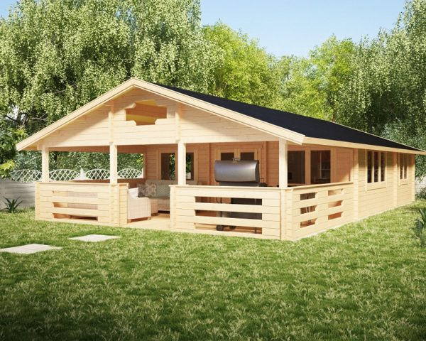 Casa de madera Holiday F 50m2 / 7 x 12 m / 70mm