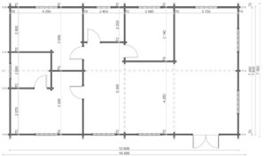 Holiday G Blockhaus Bodenplan