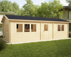 Casa de madera Holiday H 40m2 / 70mm / 4,5 x 9 m
