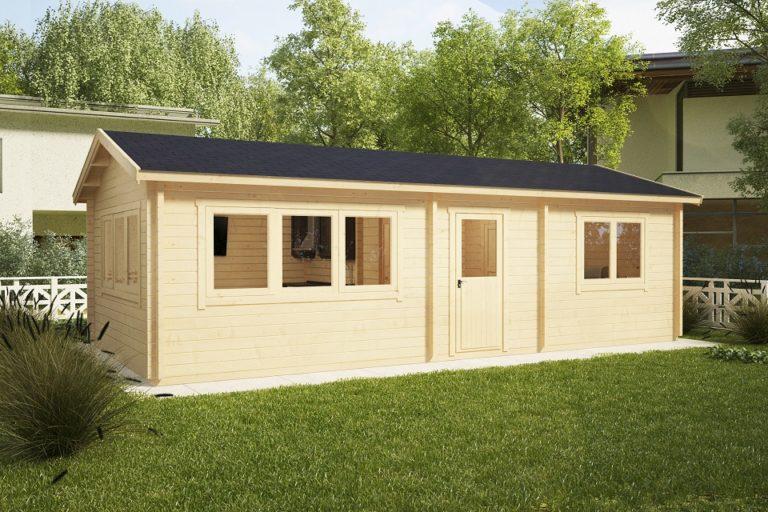 Casa de madera Holiday H 40m2 / 70mm / 4,5 x 9 m