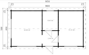One Bedroom Guest House Log Cottage