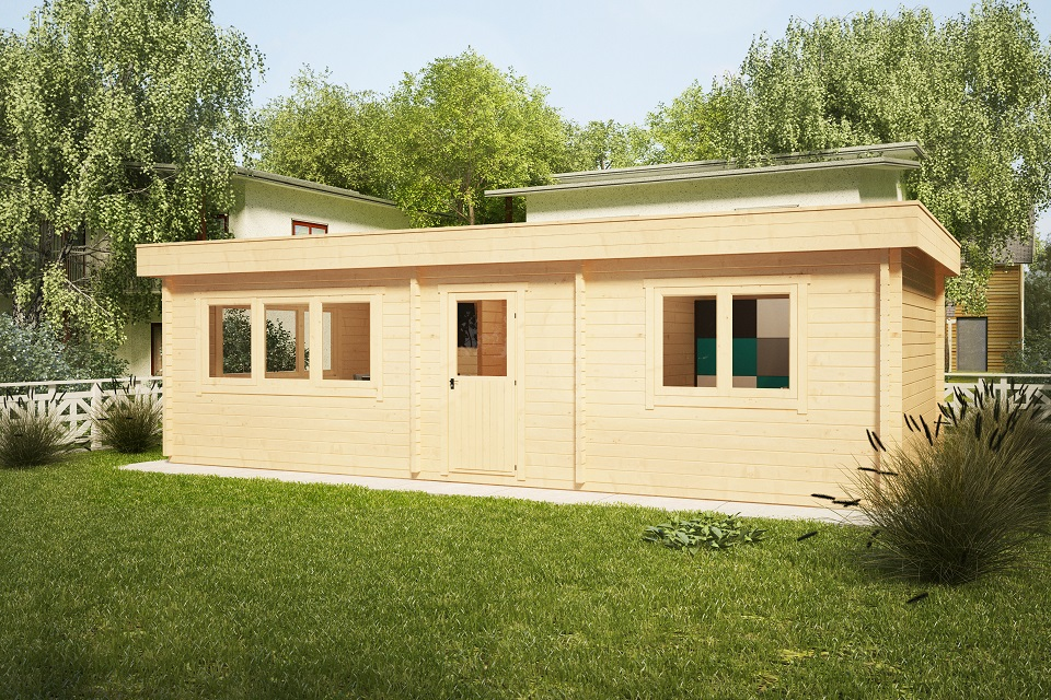 Casa de madera con un dormitorio Holiday I 40m2 / 70mm