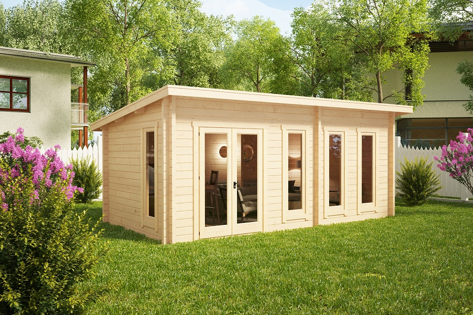 Garden room liam 16m2 3 x 6 m 44mm casetas de jardin 24 for Garden room definition