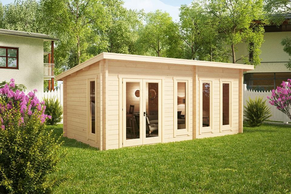 Garden room liam 16m2 3 x 6 m 44mm casetas de jardin 24 for 10 x 8 garden room