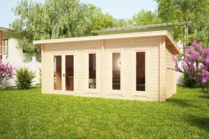 Caseta de jardín Liam 16m2 / 3 x 6 m / 44mm