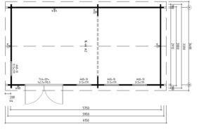 Gartenhaus Linda Bodenplan