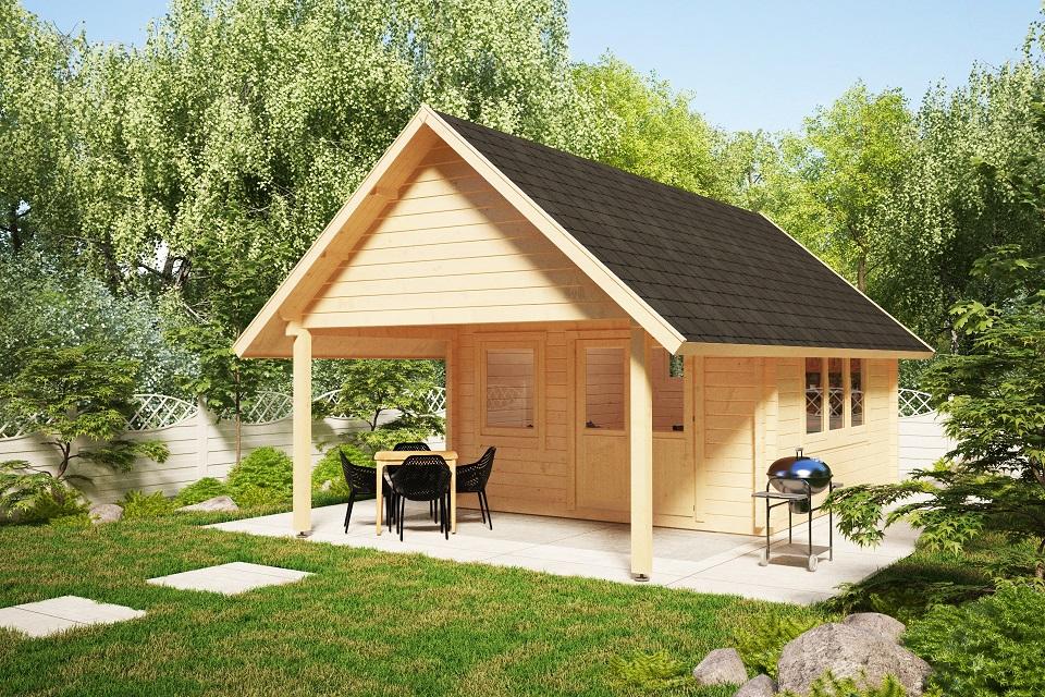 Gartenhaus Mit Vordach Mark 16m 44mm 4x4m Casetas De Jardin 24