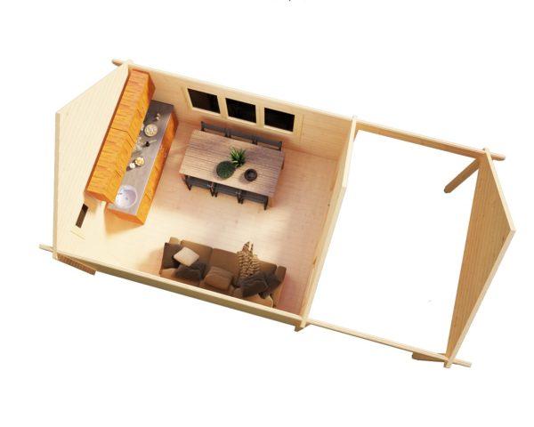 Caseta de jardín Mark 16m2 / 4 x 4 m / 44mm